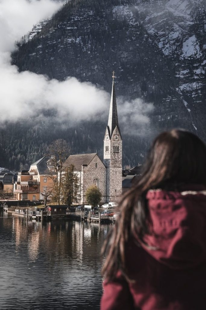 austria-oesterreich-hallstatt-church-wolken-kirche