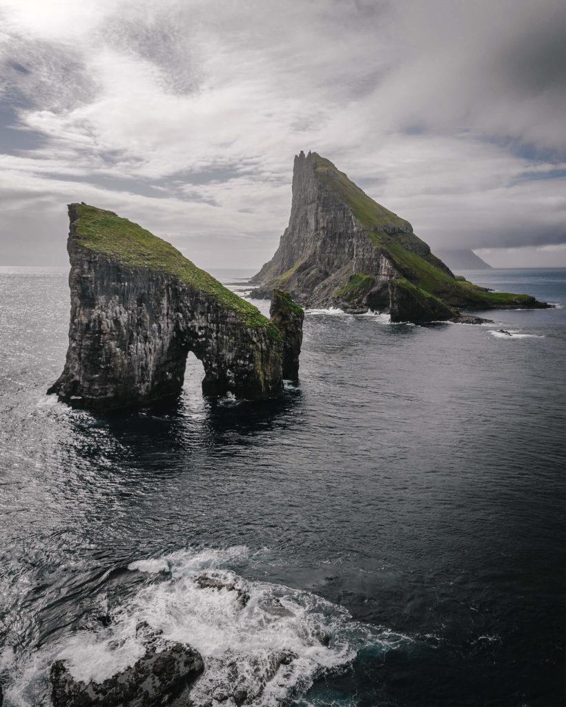 faroe-iceland-drangarnir-atlantic-vagar