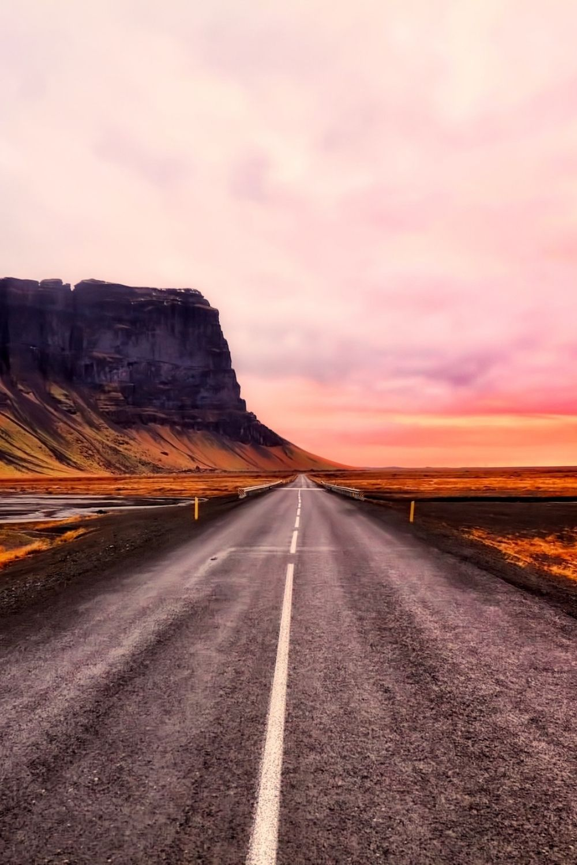 iceland-road-midnight-sun-sunset-vik